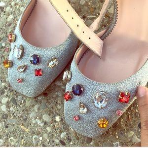 J. Crew Shoes - J.Crew Harlow Ankle-strap Embellished Glitter Pump